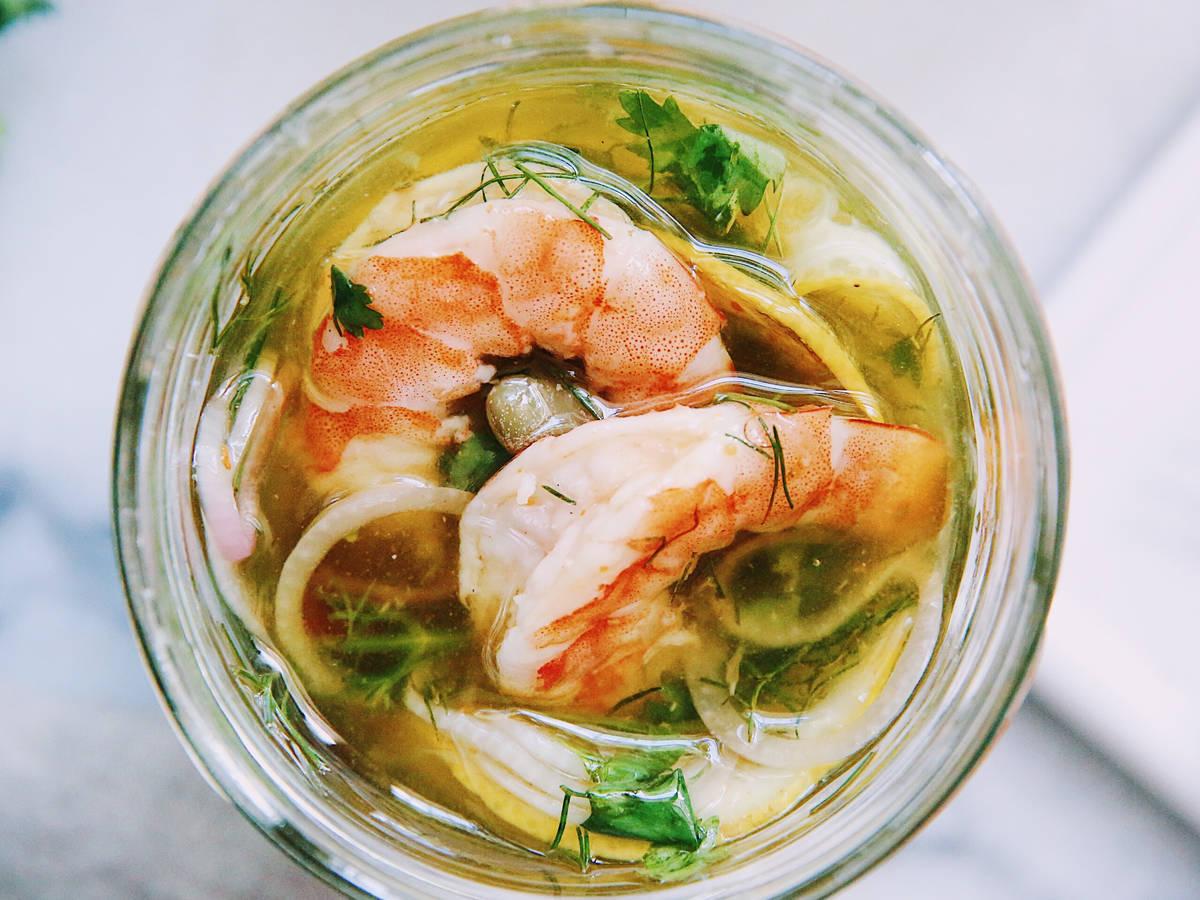 茴香柠檬渍虾