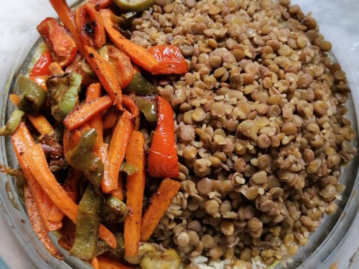 Brown Lentils Salad