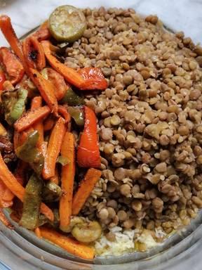 Brown Lentils Salad