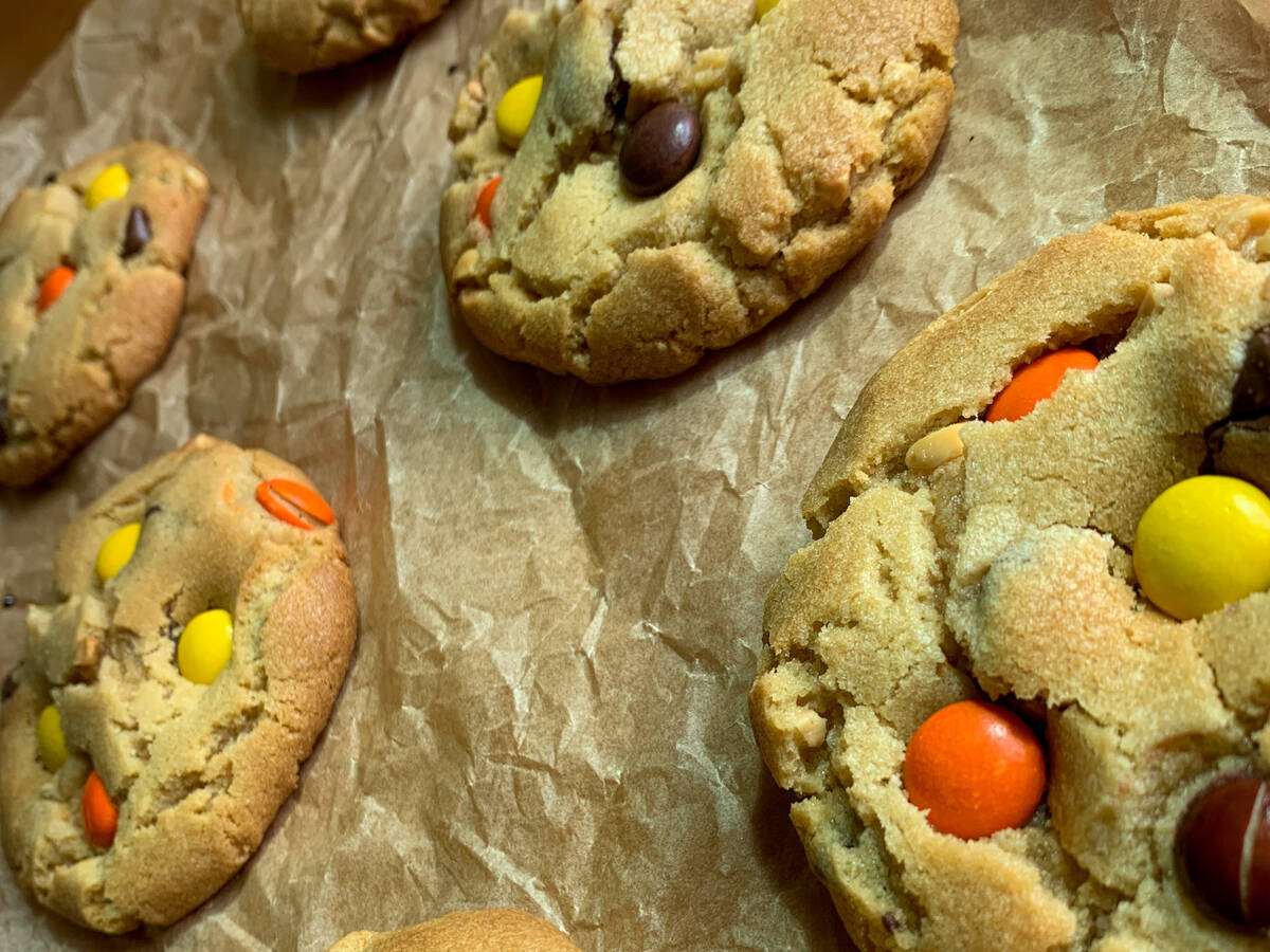 Reese's Pieces PB Choc Chip Cookies