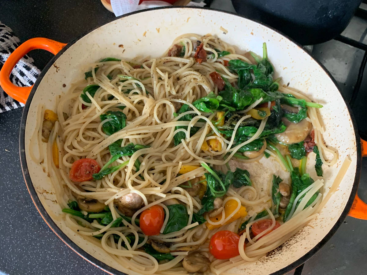 A light pasta lunch