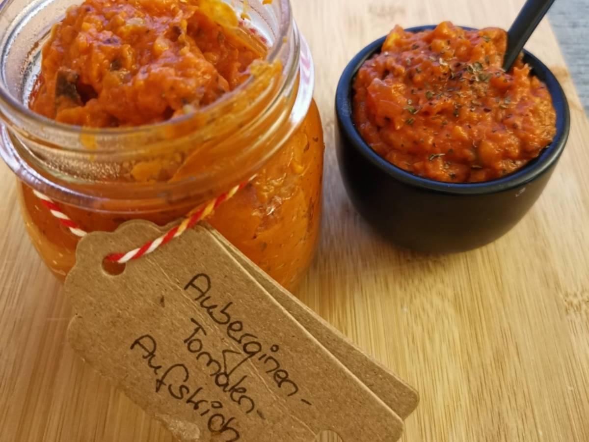 Veganer Auberginen-Tomaten Aufstrich