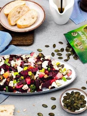 Rote-Bete-Salat mit Feta und Honig