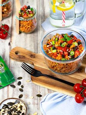 Tomaten-Bulgur-Salat mit Frühlingszwiebeln