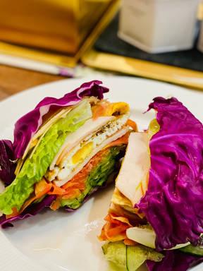 五彩低碳高蛋白三明治