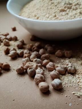Homemade chickpea gluten-free flour