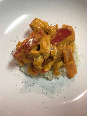 Paprika-Hähnchengeschnetzeltes ohne Sahne