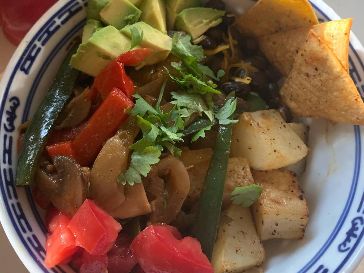 Vegetarische Fajita Bowl