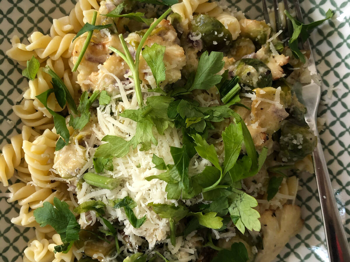 Creamy Brussels sprouts Pasta
