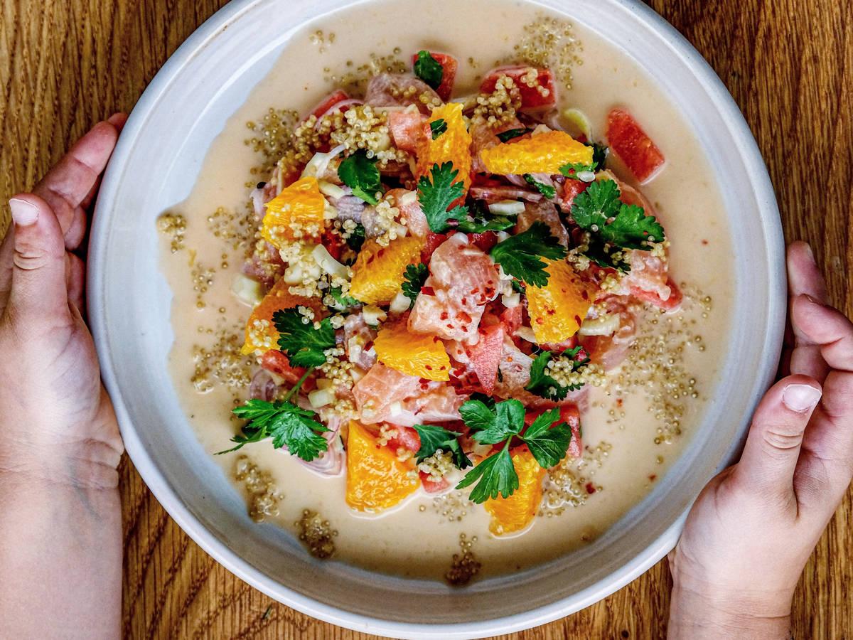 Fruchtiger Ceviche vom Saibling