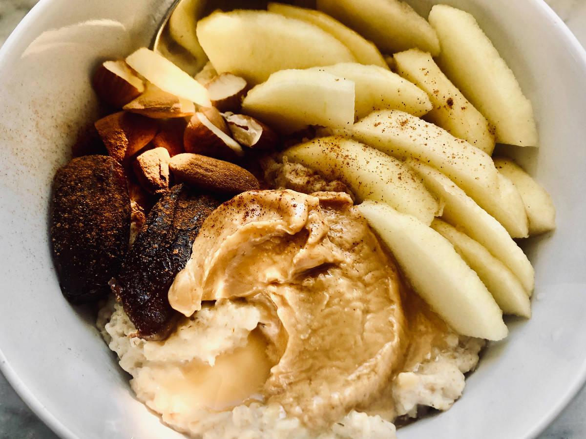Apple peanut butter oatmeal