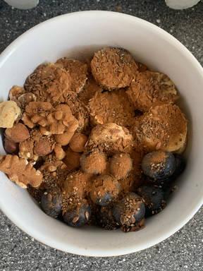 Haferflocken Frühstücksbowl