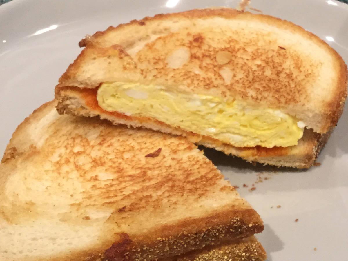 Spicy egg sandwich
