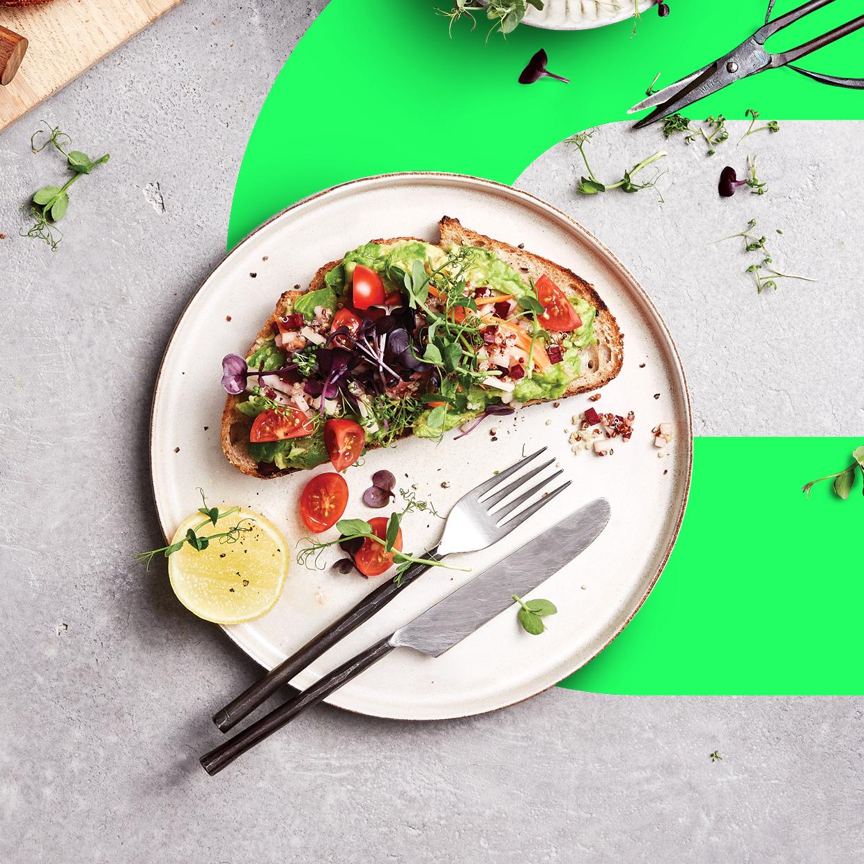 Infarm Microgreens-Salat auf Toast