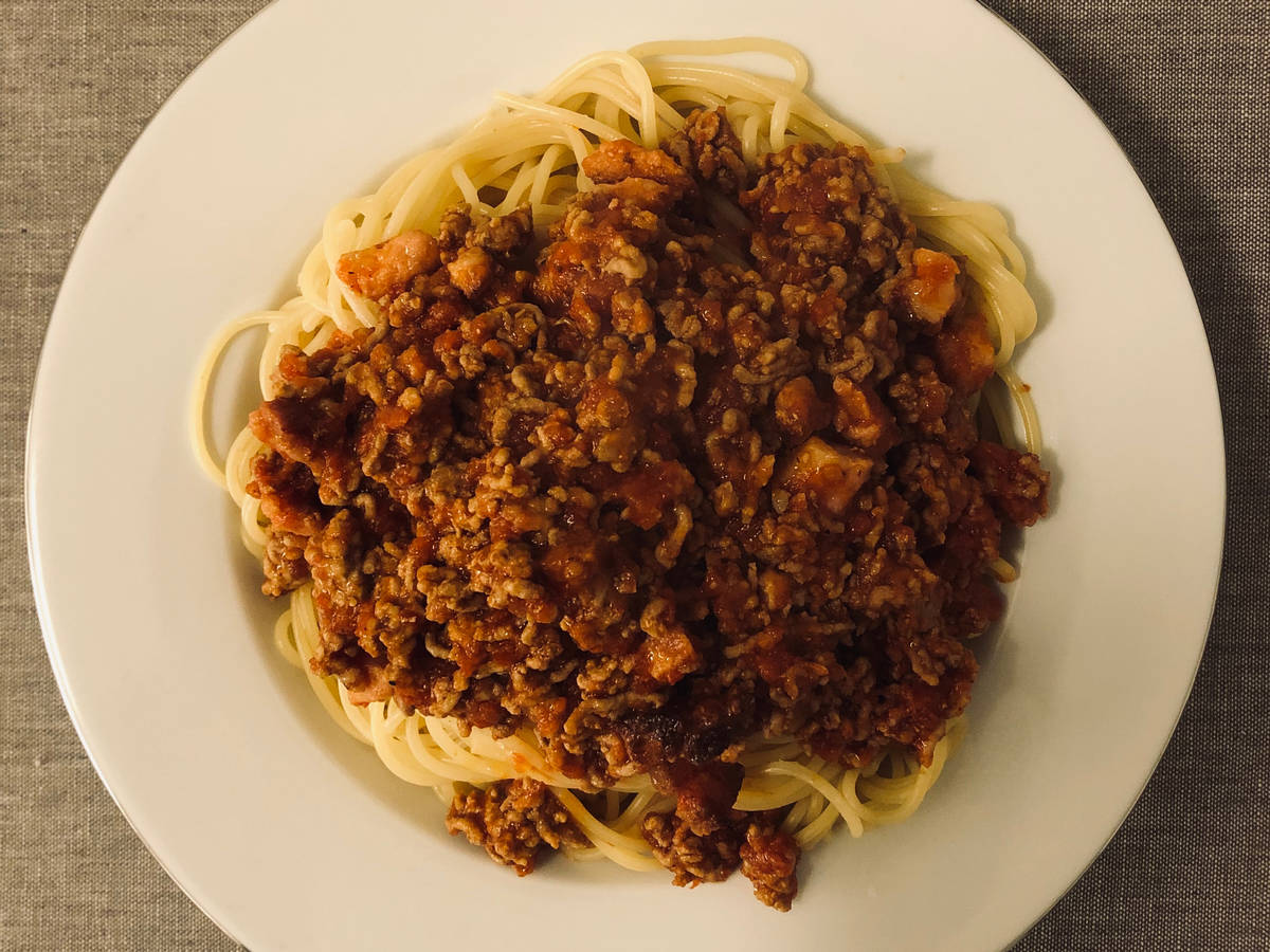 Bolognese with meat