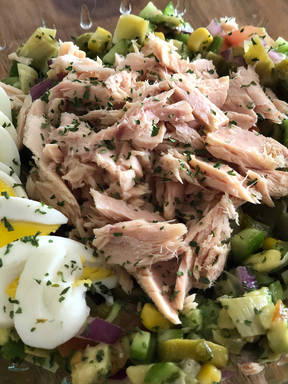 Israeli Tuna Everything Salad