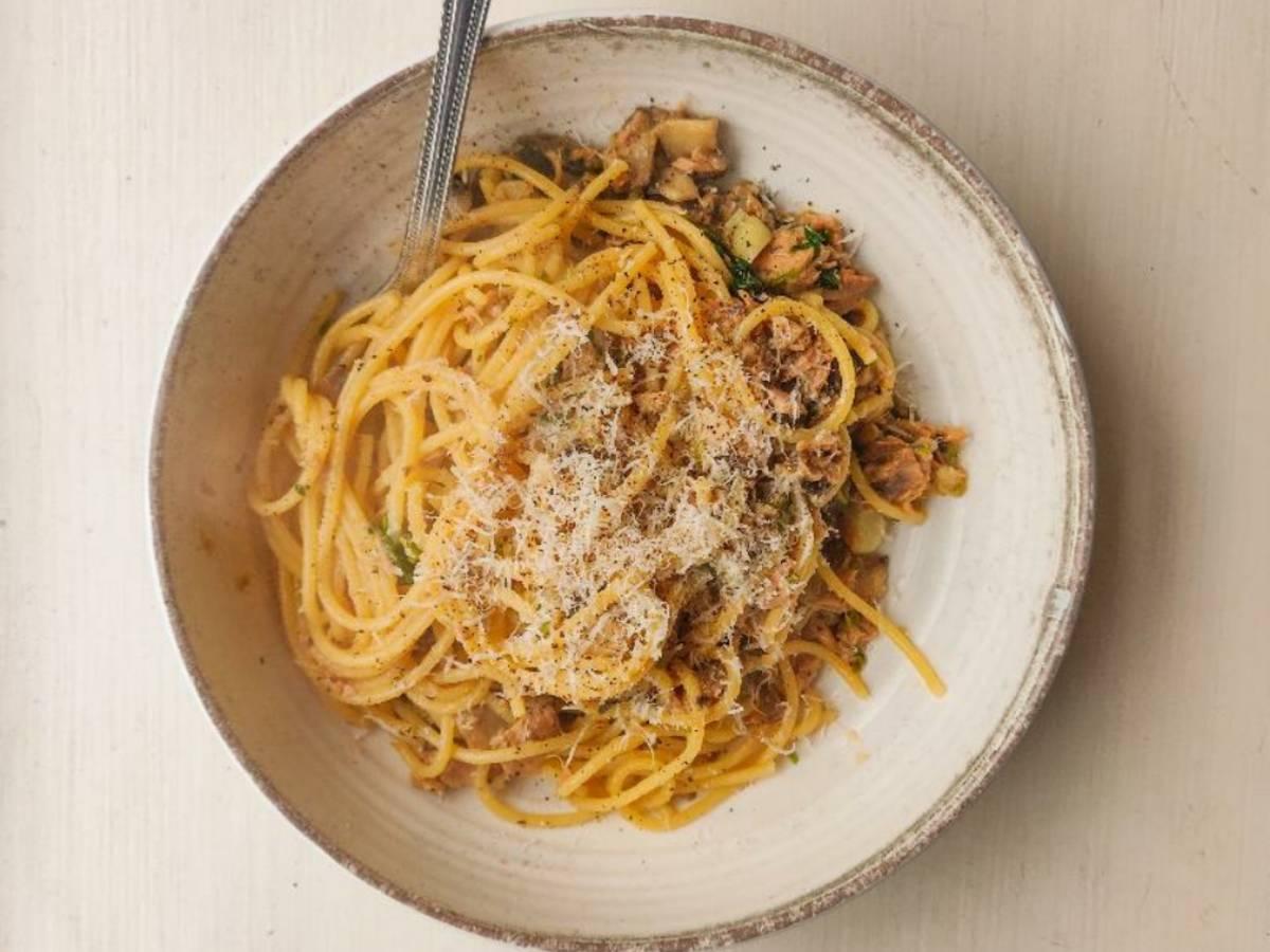 Tuna & Mushroom Spaghetti