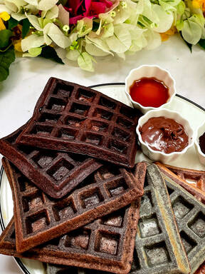 Ombre Waffles (using rice)