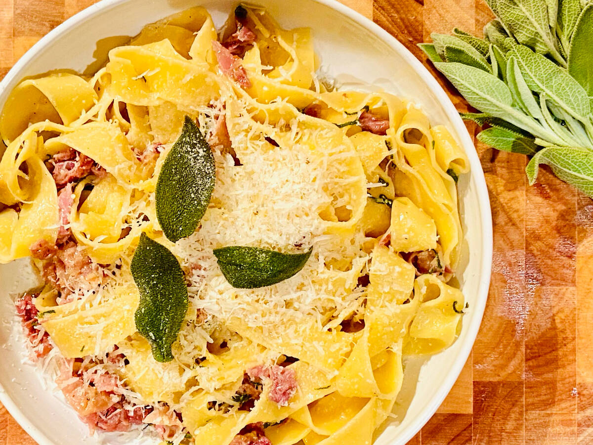 Prosciutto and Sage Tagliatelle