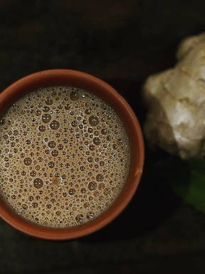 Mint Ginger Tea (Chai)