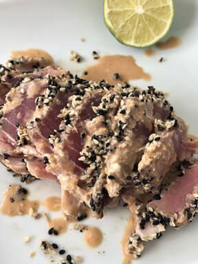 Seared Ahi Tuna With Wasabi Ginger Sauce