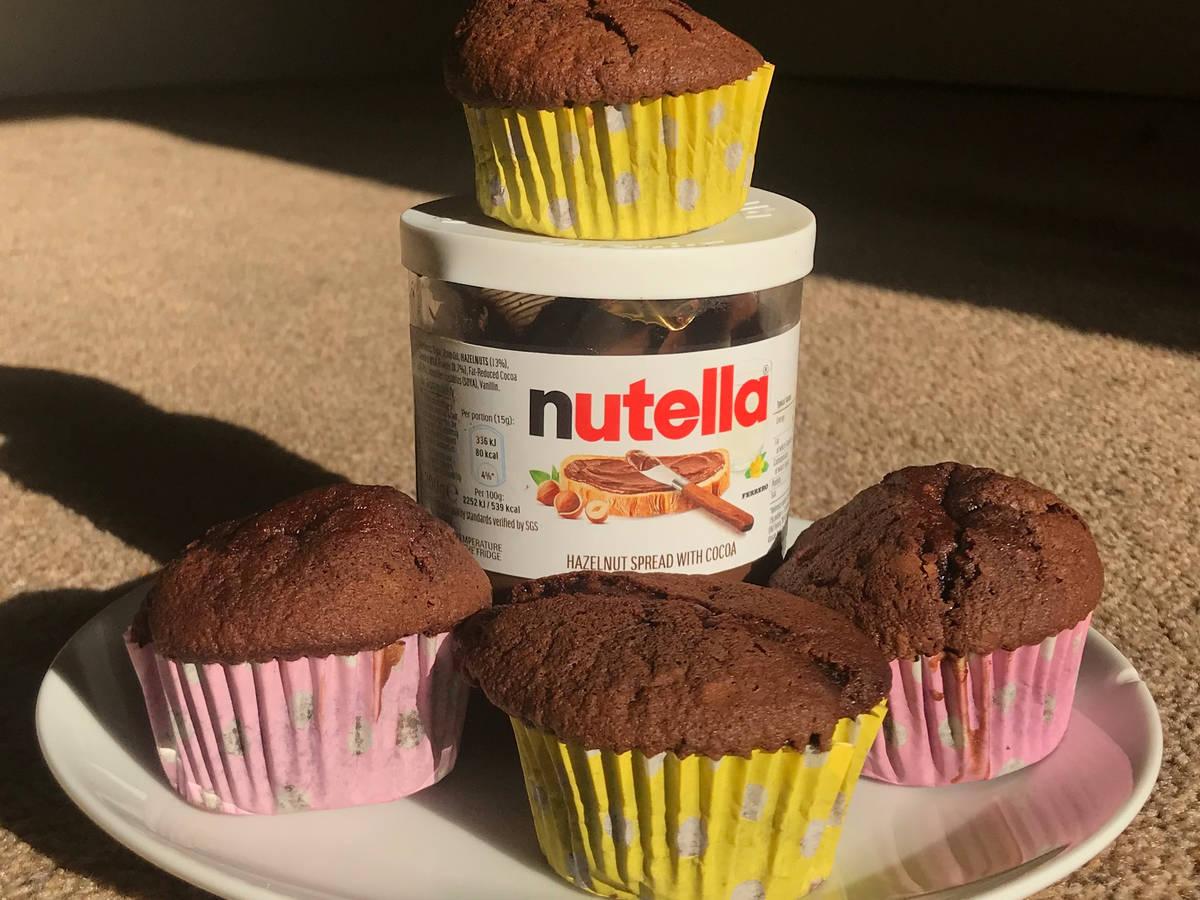 Nutella Chocolate and Hazelnut Cupcakes.