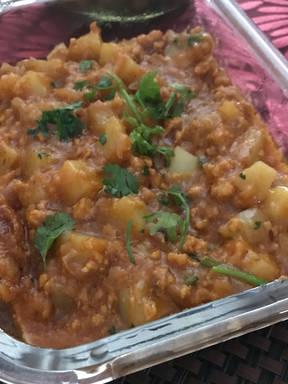 Potato & Minced Chicken Munchurian