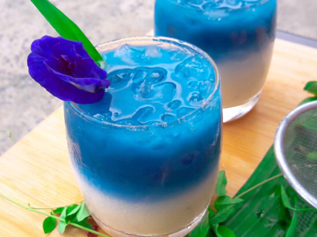 Ice milk Butterfly pea