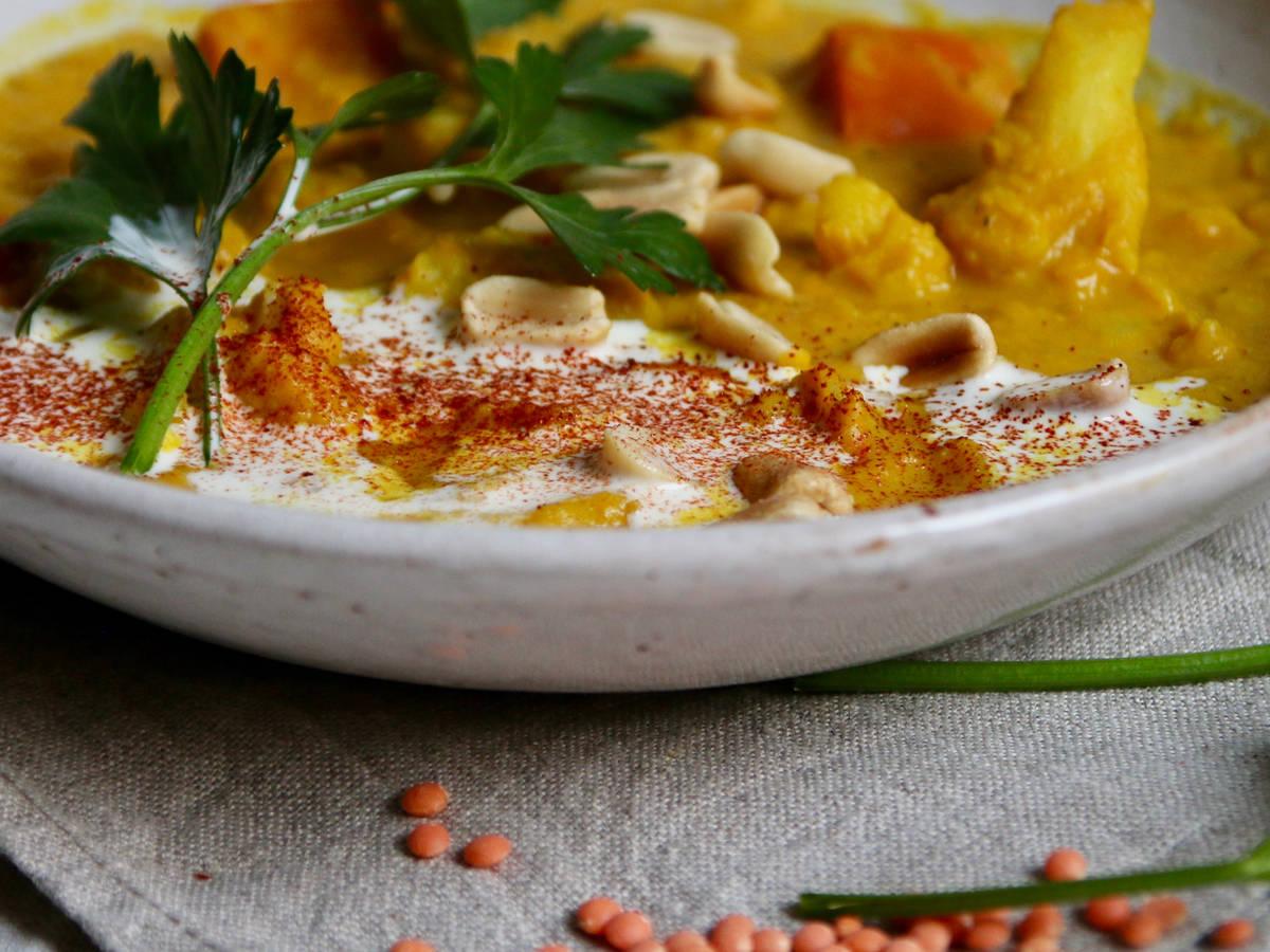 Blumenkohl-Curry mit Linsen