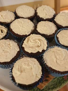 Mexican Chocolate Cupcakes with Cinnamon Frosting