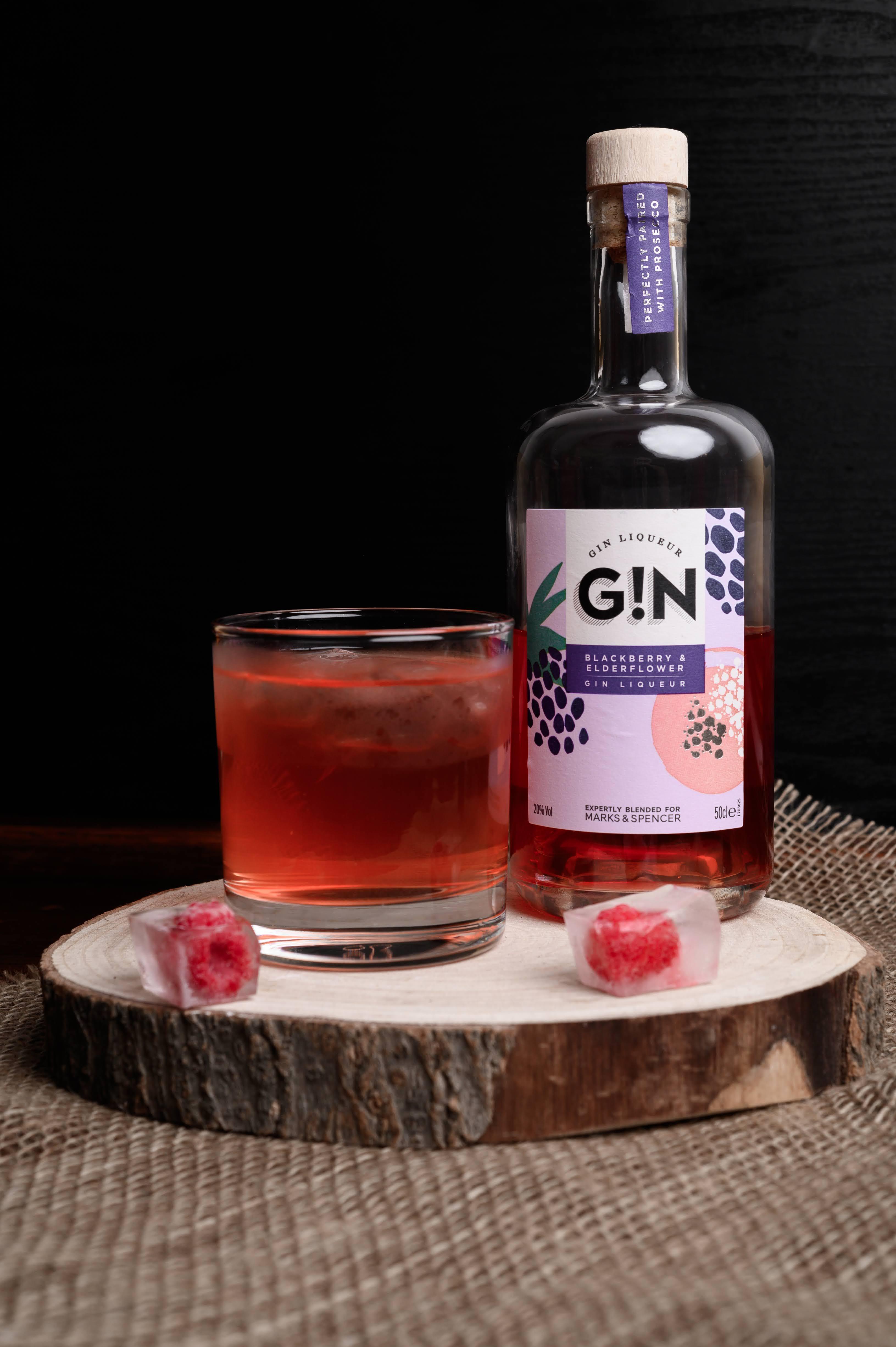 Blackberry and Elderflower Gin Cocktail