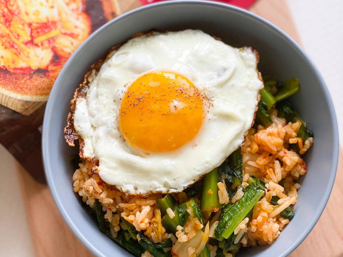 Gebratener Reis mit Kimchi