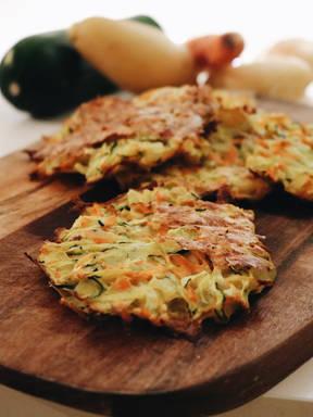 Gemüsepuffer aus dem Ofen