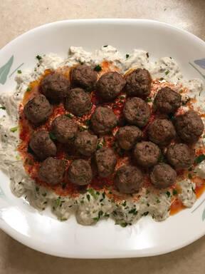 Alinazik (Turkish meat and eggplant)