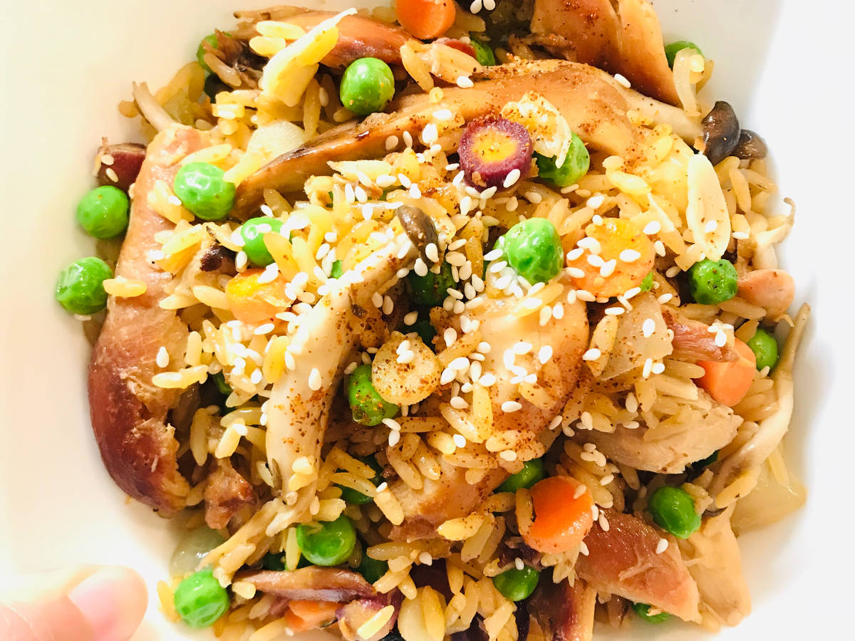 Leftover Rotisserie Chicken Fried Rice