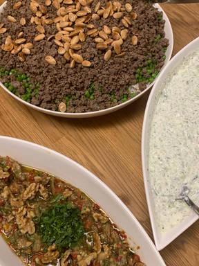 Reis mit Erbsen nach dem syrischen Rezept