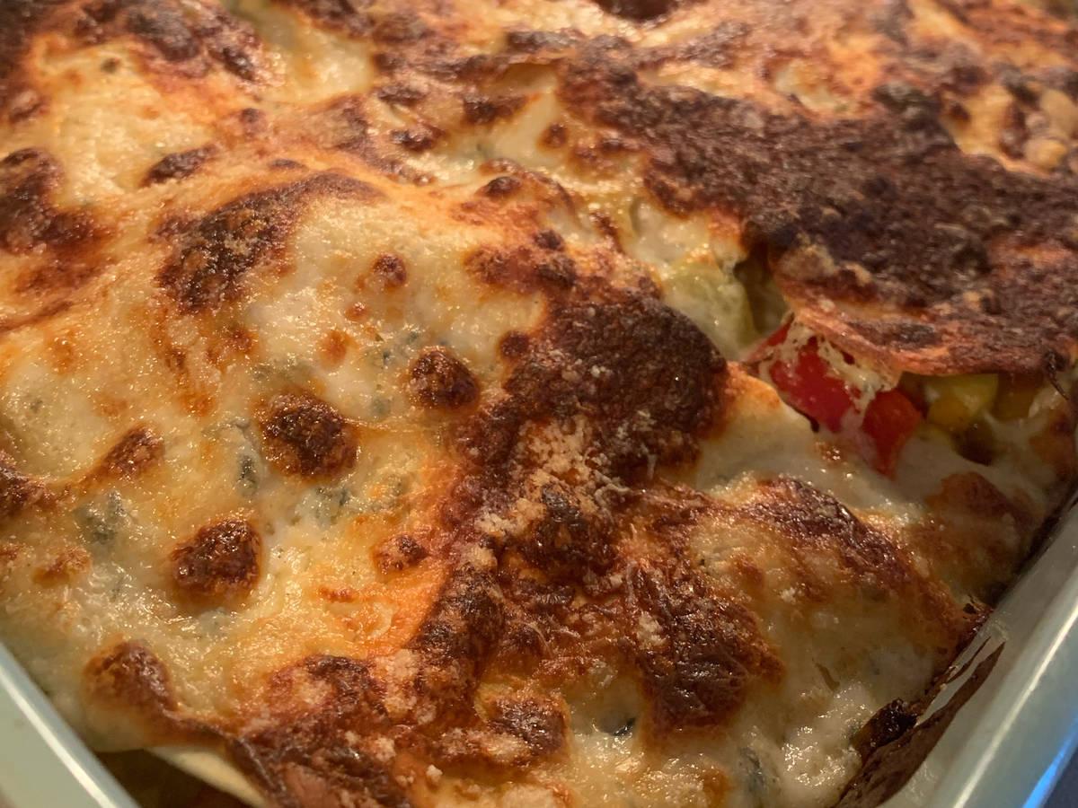 Veggie Lasagne with Gorgonzola Béchamel 💚
