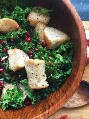 Crispy Kale and Ciabatta Salad