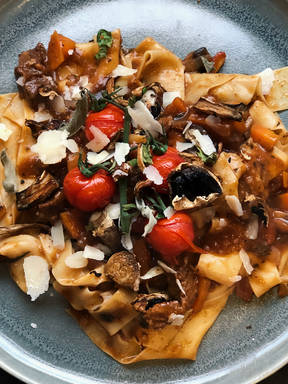 Beef and Mushroom Ragu Pappardelle