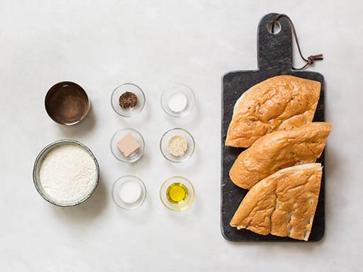 自制扁面包