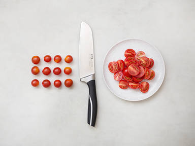 How to halve cherry tomatoes
