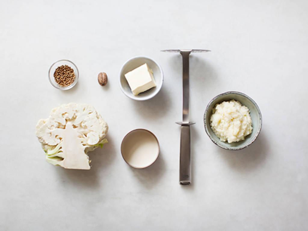 Homemade roasted cauliflower mash