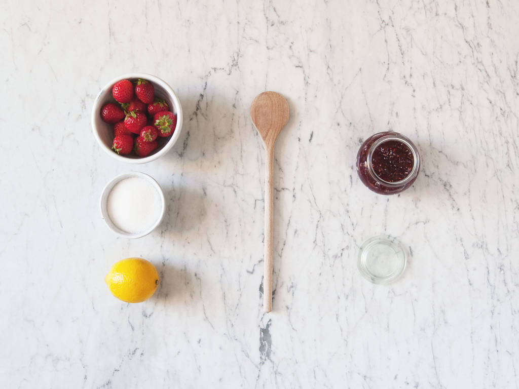 Homemade fresh strawberry jam
