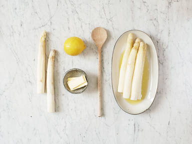 How to prepare white asparagus
