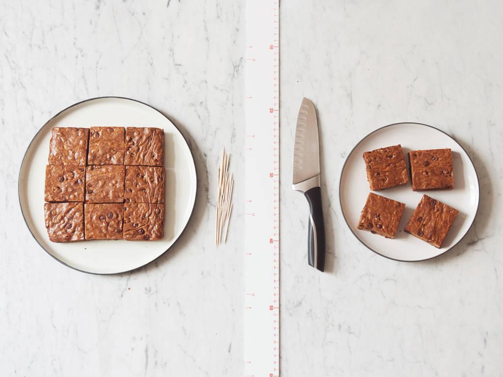 Perfekt quadratische Kuchenstücke schneiden
