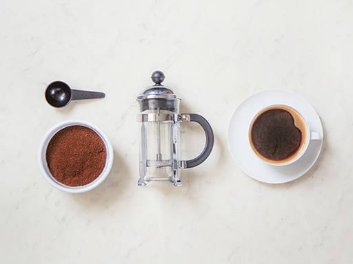 Kaffee aus der Stempelkanne