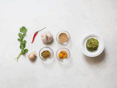 Homemade curry paste