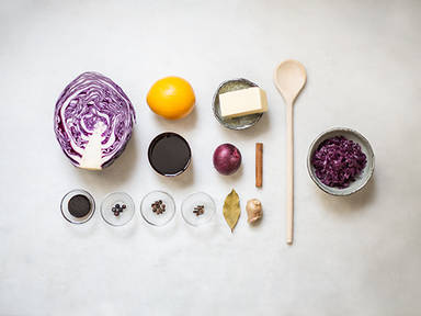 Homemade red cabbage