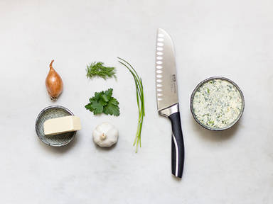 Homemade herb butter