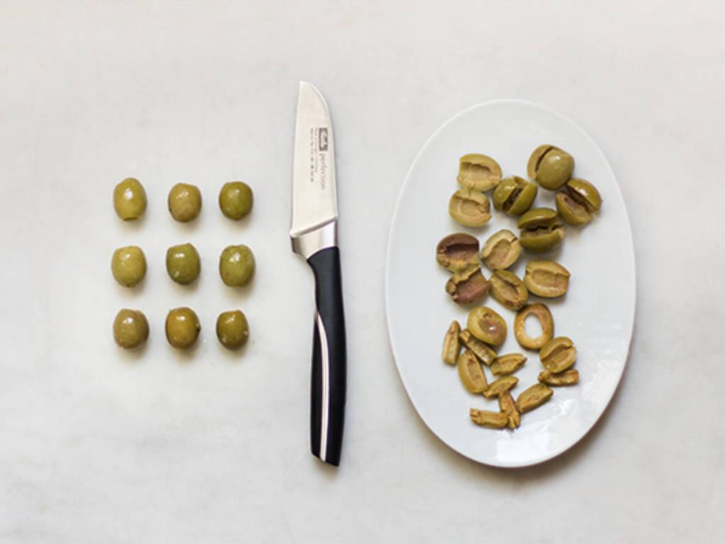 Oliven richtig schneiden